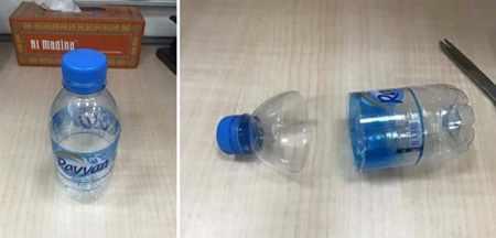image, آموزش عکس به عکس ساخت جاشمعی گل با بطری های پلاستیکی
