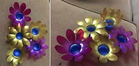 image آموزش عکس به عکس ساخت جاشمعی گل با بطری های پلاستیکی