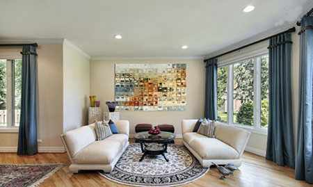 image ایده های شیک برای دکور دیوارهای خانه با تابلو