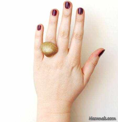 image, آموزش عکس به عکس درست کردن نگین انگشتر با صدف