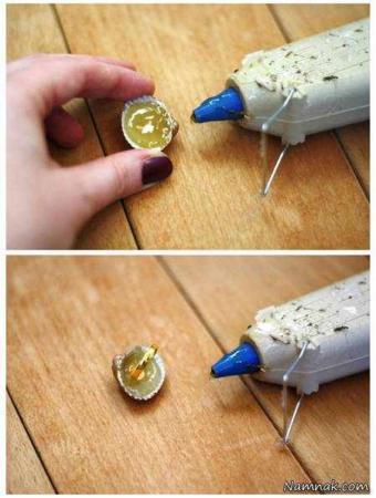 image آموزش عکس به عکس درست کردن نگین انگشتر با صدف