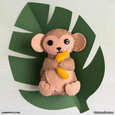 image, آموزش تصویری ساخت میمون بامزه برای اسباب بازی بچه ها