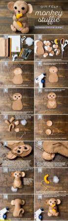 image آموزش تصویری ساخت میمون بامزه برای اسباب بازی بچه ها