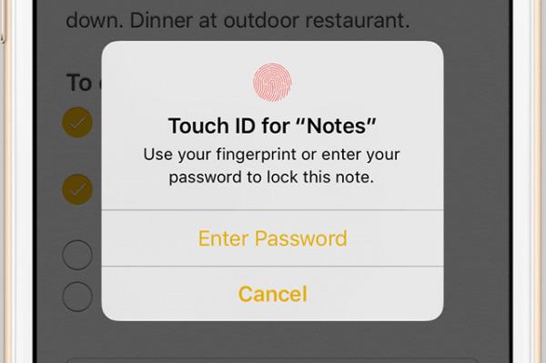 image چطور یادداشت های خود را در گوشی ایفون قفل دار کنید
