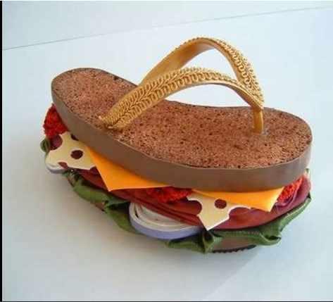 image, طراحی خوراکی و کیک های خوشمزه شکل کفش