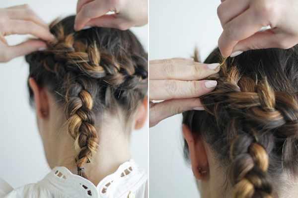 image آموزش درست کردن مدل موی تاج شیک و مجلسی در هشت مرحله