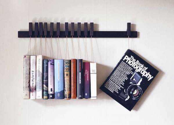 image ایده های خلاقانه برای کتابخانه های دکوری در چیدمان منزل