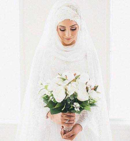 image, مدل های جدید لباس نامزدی و عروس شیک و زیبا برای بانوان محجبه