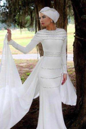image مدل های جدید لباس نامزدی و عروس شیک و زیبا برای بانوان محجبه