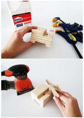 image, آموزش عکس به عکس ساخت پایه نگهدارنده موبایل با چوب