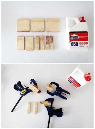 image آموزش عکس به عکس ساخت پایه نگهدارنده موبایل با چوب