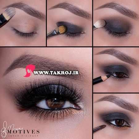 عکس, آموزش مدل های مختلف سایه و آرایش چشم با عکس حرفه ای
