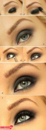 image آموزش نحوه زدن سایه دودی برای آرایش چشم با عکس و مرحله به مرحله