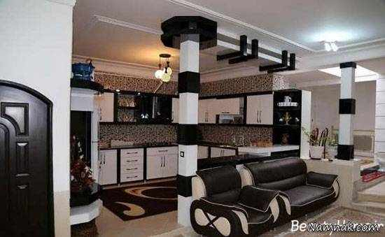 image, ایده های شیک و جدید طراحی کابینت آشپزخانه با mdf