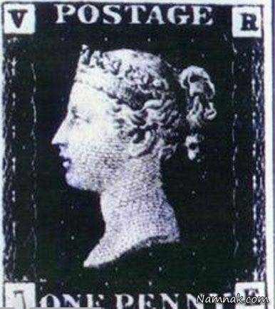 image عکس دیدنی از اولین تمبر پستی در جهان تمبر پنی سیاه