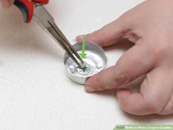 image, آموزش درست کردن شمع تزیینی با مداد شمعی