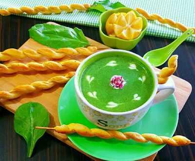 image, آموزش پخت سوپ اسفناج
