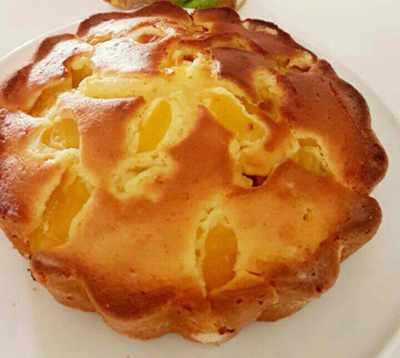 image آموزش پخت کیک زرد آلوی خانگی