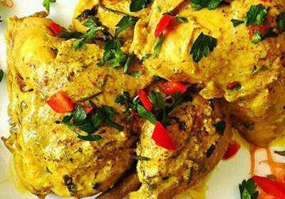 image, آموزش درست کردن غذای مخصوص و مجلسی مرغ مارینه یونانی