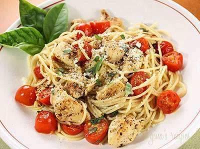 image, آموزش پخت مخصوص اسپاگتی با گوجه فرنگی و مرغ