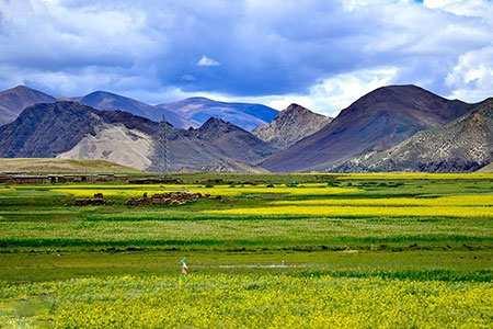 image عکس یک منظره زیبا در فلات تبت