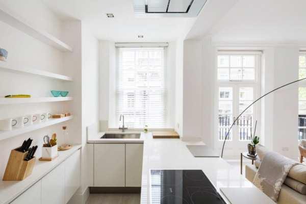 image عکس های دیدنی از دکوراسیون مدرن خانه سفید در لندن