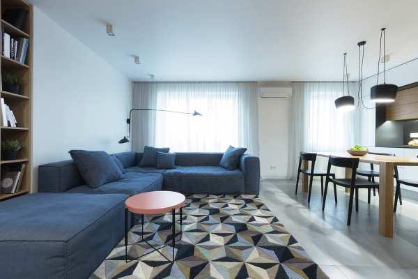 image گزارش تصویری از دکوراسیون مدرن آپارتمان با رنگ های خاص