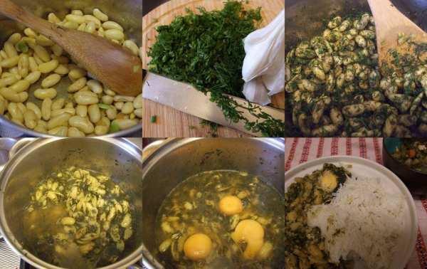 image آموزش تصویری پخت باقلاقاتق غذای خوشمزه گیلانی