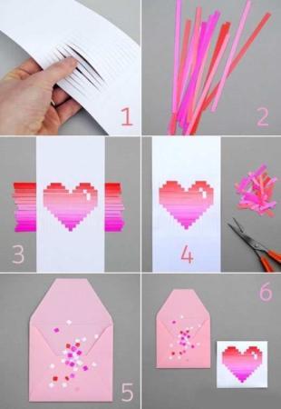 image آموزش تصویری درست کردن کارت پستال با کاغذ رنگی