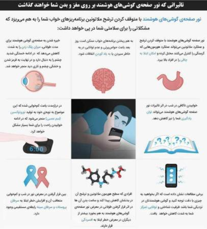 image خطرات نور موبایل برای سلامتی هنگام استفاده طولانی مدت