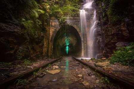 image تصویری زیبا از مسیر راه آهن در نیوسالت ولز استرالیا