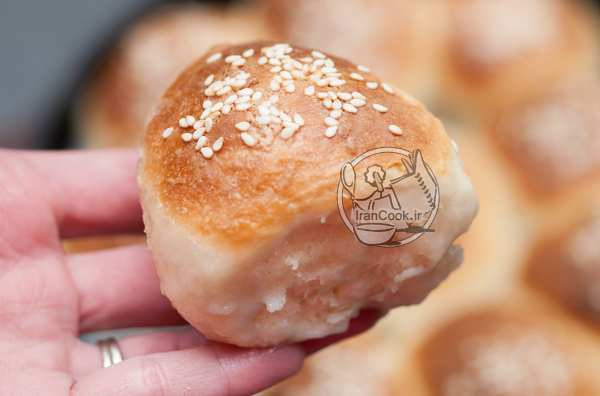 image آموزش درست کردن نان شیری خانگی