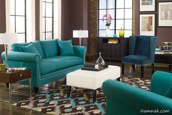 image, چطور از رنگ آبی و قهوه ای در دکوراسیون منزل استفاده کنید
