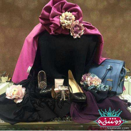image عکس تزیین لباس و کفش هدیه به عروس و داماد