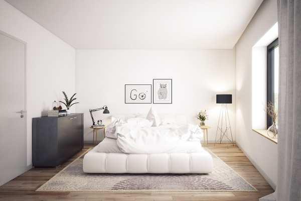 image عکس های دکوراسیون اتاق خواب تمام سفید مدرن و شیک