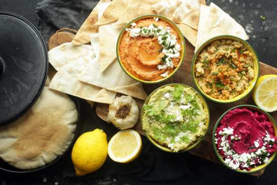 image آموزش پخت غذای عربی حمص با دو طعم خاص