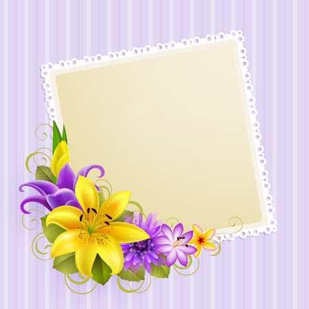 image, ایده های طراحی کارت پستال با طرح گل برای گرافیست ها