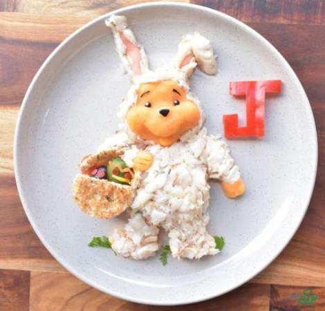 image, چطور بشقاب غذا را برای بچه ها تزیین کنید