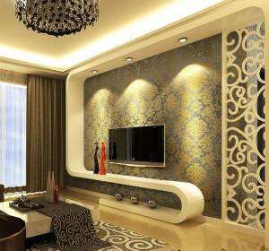 image, ایده های جدید برای طراحی دیوار پشت تلویزیون در سالن اصلی