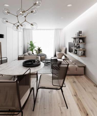 image دو مدل دکوراسیون آپارتمان های شیک با ترکیب رنگ سیاه و سفید