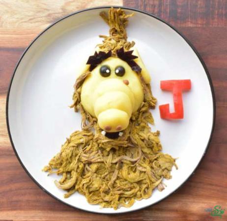 image چطور بشقاب غذا را برای بچه ها تزیین کنید