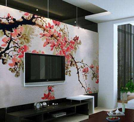 image ایده های جدید برای طراحی دیوار پشت تلویزیون در سالن اصلی