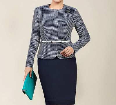 image راهنمای خرید و انتخاب کت دامن برای خانم های چاق