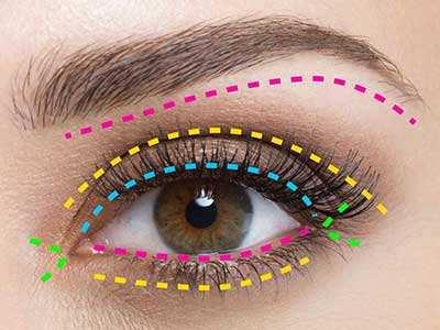 image آموزش تصویری درشت نشان دادن چشم ها با آرایش و گریم
