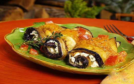 image, آموزش درست کردن رول بادمجان مخصوص با پنیر