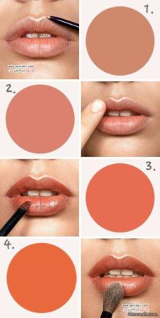 image آموزش نحوه آرایش لب برای برجسته نشان دادن لب ها