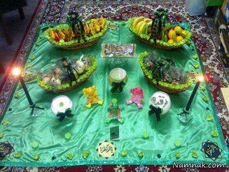 image عکس مدل های مختلف و زیبای تزیین سفره حضرت رقیه سلام الله علیه