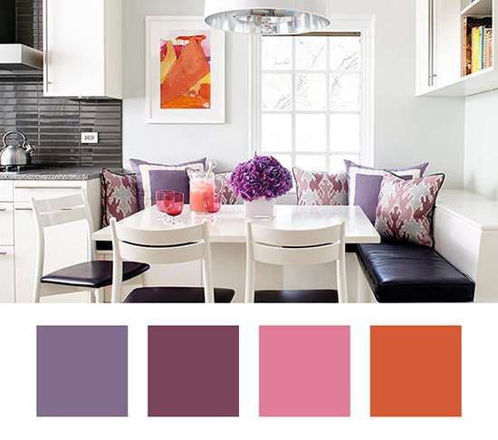 image, چطور از رنگ بنفش در دکوراسیون منزل استفاده کنید