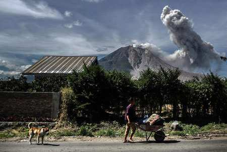 image, عکس آتشفشان در کارو اندونزی