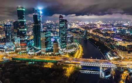 image نمایی دیدنی از شب های مرکز شهر مسکو